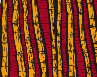 African print fabric by the Yard Red bamboo Ankara fabric by the yard African Supplies African fabric wax print fabric fashion africa fabric