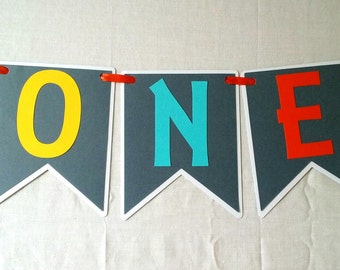 Wild One Tribal High Chair Banner - boy - party supplies - boho - axtec - decorations