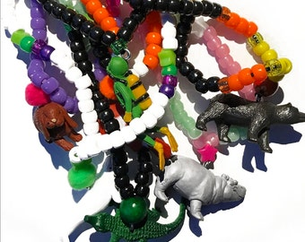 CUSTOM WEAR N PLAY necklace ~~~ fun jewelry for kids - pick your colors - pick your beads - pick your charm - unclip and play -