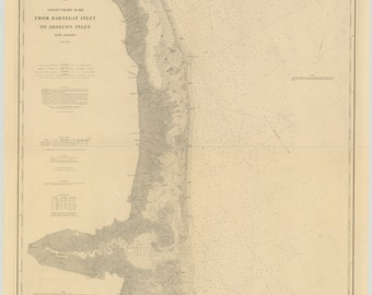 Barnegat Inlet to Absecon Inlet Map 1879