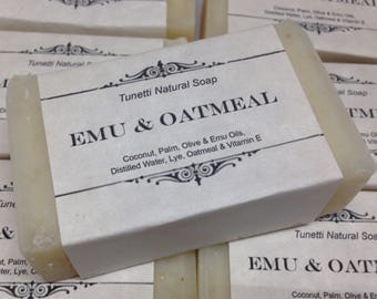 Emu & Oatmeal, Homemade Soap, Handmade soap, Natural Soap, Cold Process Lye Soap