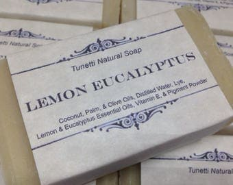 Lemon Eucalyptus Natural Homemade Soap, Handmade soap, Natural Soap, Cold Process Lye Soap