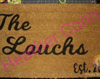 "Personalized Door Mat 18"" x 30"""