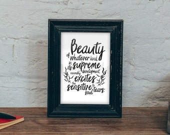 Edgar Allan Poe  | Quote | Printable wall Art