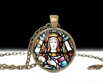 Jesus Necklace Jesus Jewelry Religious Necklace Mary and Baby Jesus Necklace Religious Gift