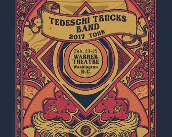 Tedeschi Trucks Band Hand-Printed Gigposter