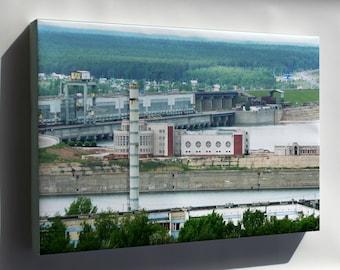 Canvas 24x36; Hydroelectic Power Station In Naberezhnye Chelny