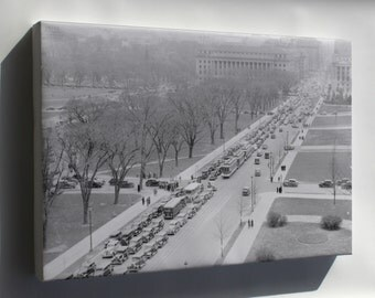 Canvas 24x36; Aerial View Of A Traffic Jam, 14Th Street And The Mall, Washington, D.C, 04 1937 Nara 513342