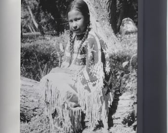 Canvas 24x36; Indian Girl Dressed In Native Costume Nara 285542