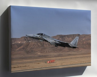 Canvas 24x36; Israeli Air Force F-15A Eagle F-15 133Rd Squadron