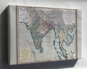 Canvas 24x36; Map Of Southeast Asia 1794 India Vietnam Thailand
