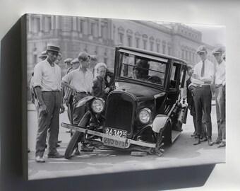 Canvas 16x24; Auto Wreck, Usa, 1923. Maryland A Chevrolet 490