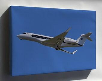 Canvas 16x24; Gulfstream G650 Departs Bristol 23Rdaug2014 Arp