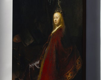 Canvas 16x24; Minerva By Rembrandt