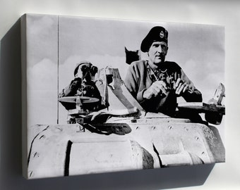 Canvas 16x24; General Bernard L. Montgomery North Africa,  1942 2Nd Battle Of El Alamein