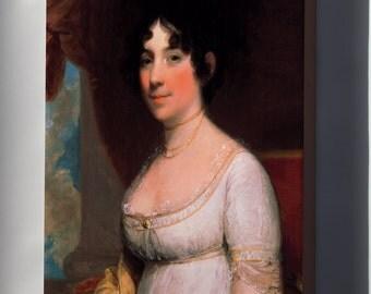 Canvas 16x24; Gilbert Stuart Dolley Payne Madison Mrs. James Madison
