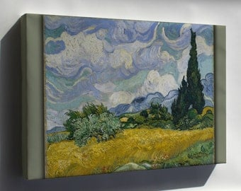 Canvas 16x24; Wheat Field With Cypresses 1889 By Vincent Van Gogh
