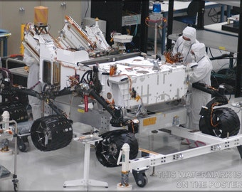 16x24 Poster; Mars Rover Curiosity Assembly, The Centerpiece Of Nasa'S Mars Science Laboratory Mission