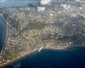 16x24 Poster; Aerial View Of Alki Point 1