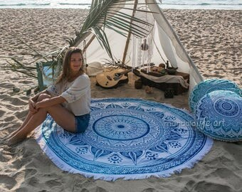Bridal Boho Gift, Beach Bridal Party Gift, For Bridesmaids From Bride, Bohemian Beach Blanket