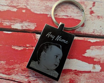 Engraved Photograph Keyring - Key Chain - Key Ring - Personalised Gift - Add your message to the back
