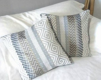 dust cover of decorative cushion thai of pillow of inside grey and gold cushion