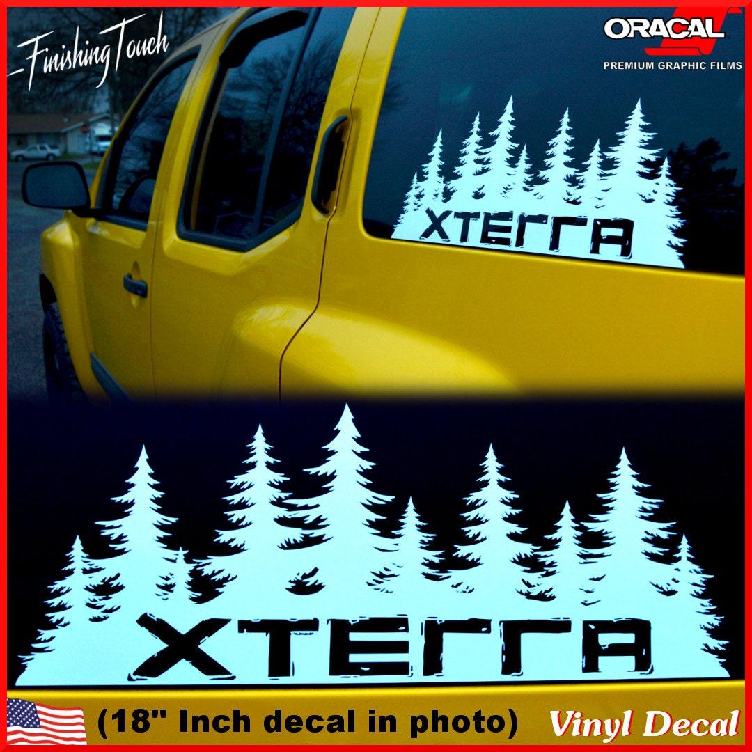 Nissan Xterra Decal Custom Vinyl Forest Silhouette Graphic - Custom vinyl decals portland oregon