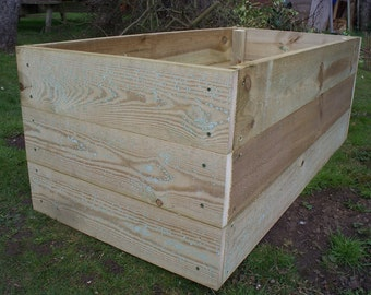 45cm high Tanalised wood Vegetable raised bed, herb planter, garden border