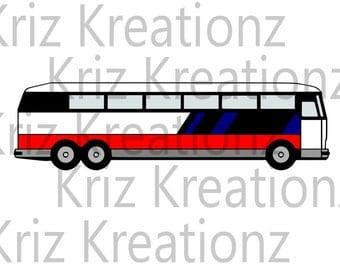 Coach Bus SVG Cut File