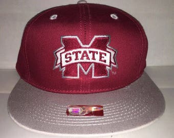 Vintage Mississippi State Bulldogs Snapback hat cap rare ncaa college football deadstock final four basketball