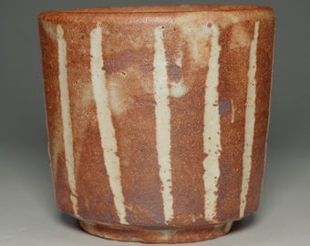 Yunomi by Rosanjin / Pottery cup in shino ware #2500