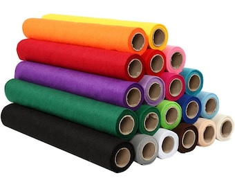 "100 percent wool felt roll, pure wool felt fabric, mix and match color wool felt rolls and sheet, 1.5mm thick 5"" x 36"" wool felt fiber DIY"