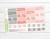 SALE! 20% OFF! May Quarter Boxes & Weekend Banners | 24 Planner Stickers (perfect for the Erin Condren Life Planner, Happy Planner, Personal