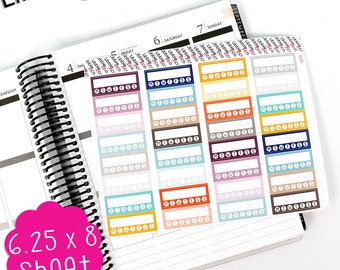 LS200 Inkwell Press Color Habit Tracker Stickers! Set of 32 Perfect for the Erin Condren Life Planner!!