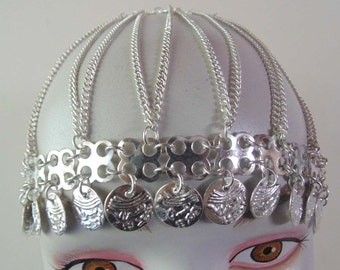 Tribal ats Bellydance Jewelry cap-hat   Silver tone cap  Boho cap  Gypsy cap-hat Tribal Cap  banjara cap