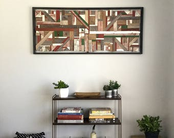 BARNAGE mosaic reclaimed wood art