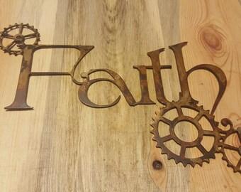 Faith wall sign
