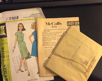 McCalls Vintage Pattern (never used) 1966 Misses Dress