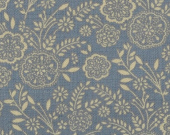 Item # 13634 14 Moda Fabric La Belle Fleur Collection by French General. 1/2 Yard Cuts Vintage French Designs.