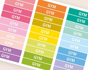 Gym Heading stickers, planner header stickers, planner stickers, agenda notebook journal stickers, reminder