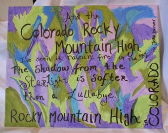 OOAK Original Acrylic- Rocky Mountain High by Wendy
