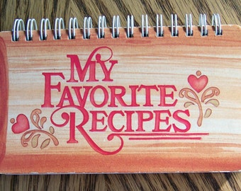 Vintage My Favorite Recipes BLANK Recipe Card Cookbook Rolling PinUnused Free US Shipping