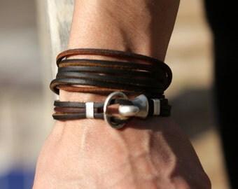 Boho leather wrap bracelet, handmade leather jewellery leather bracelet  womens leather bracelet