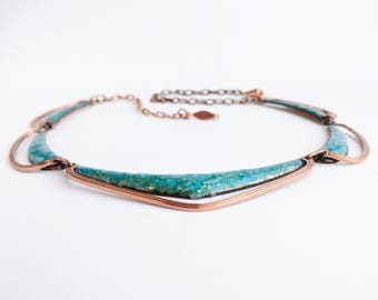 Gorgeous Modernist Matisse Enameled Necklace
