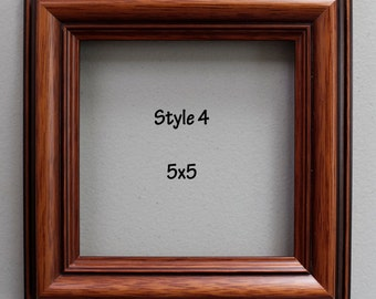 photo frame picture frame square frame 5x5 wood frame modern rustic goldbrown