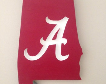University of Alabama Wooden Sign, U of A, Roll Tide, Bama, Football