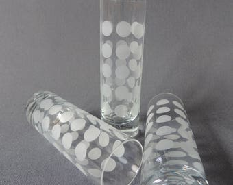 3 x IngridGlas * dots * polka * champagne glasses / Sektflöten from the 70's