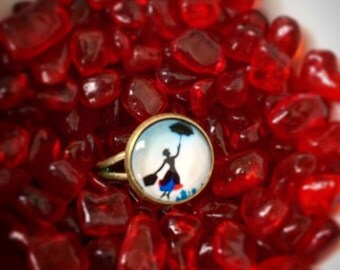 Disney's Mary Poppins Silhouette Adjustable Ring, Mary Poppins Ring, Mary Poppins, Mary Poppins Jewelry, Disney Ring, Disney Jewelry, Disney