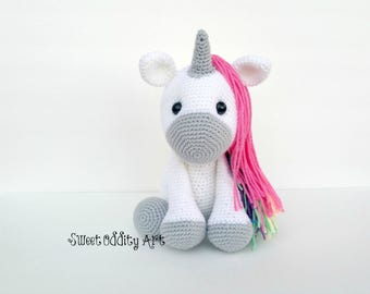 unicorn crochet pattern, crochet unicorn, amigurumi, unicorn doll, unicorn toy