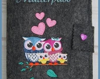 Nut case / cover made of felt / for twin Mamas/handmade